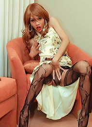 Traditional Oriental tranny with Monster cock